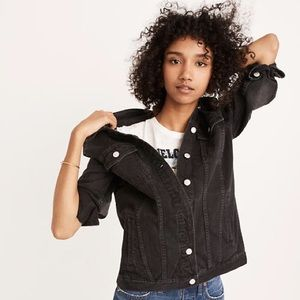 Madewell oversized jean jacket in lunar wash